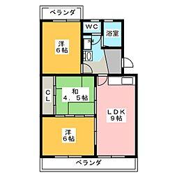 サンライズ竹しま[3階]の間取り