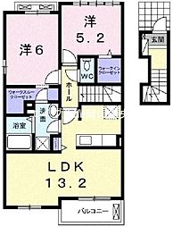 フェリオ II[2階]の間取り