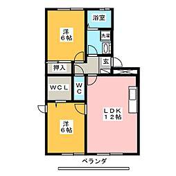 レジデンスKise[1階]の間取り