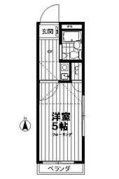 東京都江東区大島8の賃貸アパートの間取り