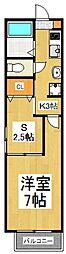 メゾンドELLEV[3階]の間取り