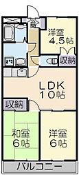三重県多気郡明和町大字上野の賃貸マンションの間取り
