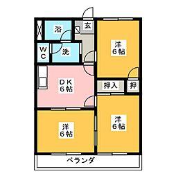 メゾン朝倉[3階]の間取り