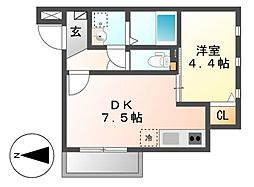 MOVE六番町WEST[1階]の間取り
