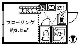 東京都新宿区大久保2丁目の賃貸アパートの間取り