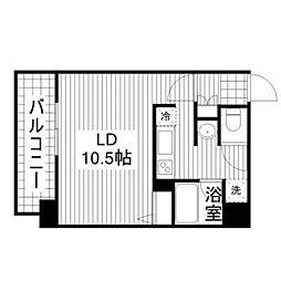 レフィナードCタイプ[6階]の間取り