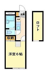 神奈川県川崎市宮前区東有馬3丁目の賃貸マンションの間取り