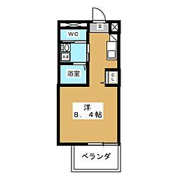 ピーステン名駅南[9階]の間取り