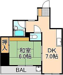 エレガンスBIN[2階]の間取り