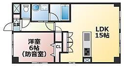 兵庫県神戸市灘区赤坂通8丁目の賃貸マンションの間取り