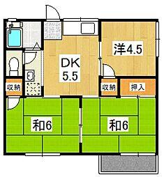 コーポ古沢I[201号室号室]の間取り