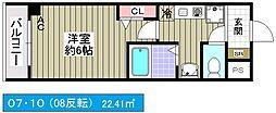 クレド桜川[10階]の間取り