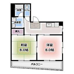 北名古屋マンション[301号室]の間取り