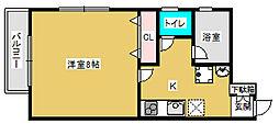 宮城県仙台市太白区柳生2丁目の賃貸アパートの間取り