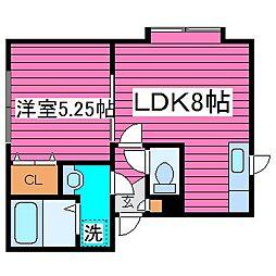 北海道札幌市東区北三十九条東10丁目の賃貸アパートの間取り