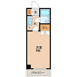 仙台市地下鉄東西線 川内駅 徒歩10分の賃貸マンション 4階1Kの間取り