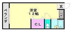 中岡第1マンション[301号室]の間取り