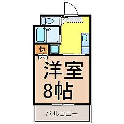 ゆうりん館 (ユウリンカン)[3階]の間取り