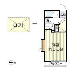 マ・ピエス生田7-A棟[201号室]の間取り