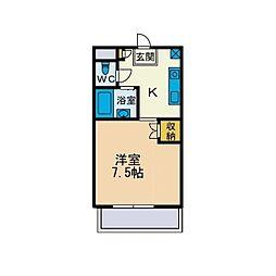 KIハイムD棟[2階]の間取り