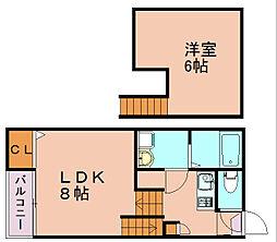コージーハウス博多[1階]の間取り