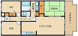 ゑびす若林[1階]の間取り