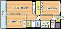 リバーステージI[2階]の間取り