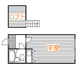東京都板橋区泉町の賃貸アパートの間取り