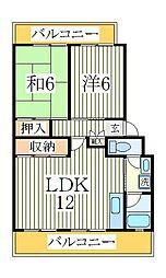 パークシティ白扇2号棟[2階]の間取り