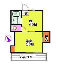第3富岡荘[2階]の間取り
