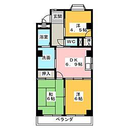 メゾン晃梅[1階]の間取り