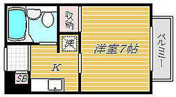 千葉県浦安市富士見5丁目の賃貸アパートの間取り