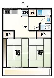静岡県沼津市東椎路の賃貸アパートの間取り