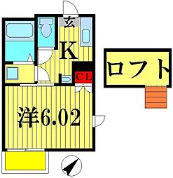 ベイシティ松戸小山II[202号室]の間取り