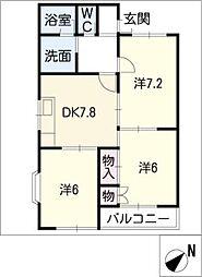 ファミールB[1階]の間取り