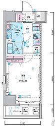 ジェノヴィア東神田グリーンヴェール 9階1Kの間取り