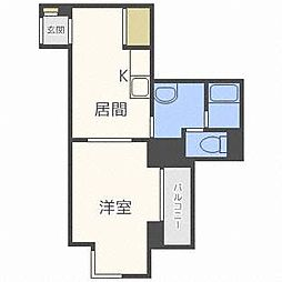 アスティオン桑園[2階]の間取り
