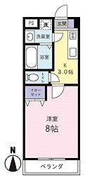 MYUII エムワイユーツー[1階]の間取り