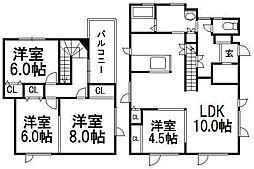 [一戸建] 北海道札幌市西区山の手二条6丁目 の賃貸【/】の間取り