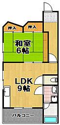 マンション第2梅香[2階]の間取り