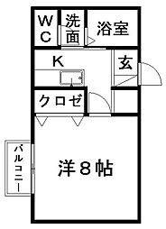 コーポサンガ[1階]の間取り