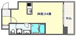 タクトステイ大阪弁天町 5階ワンルームの間取り