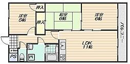 エントピア藤井[3階]の間取り