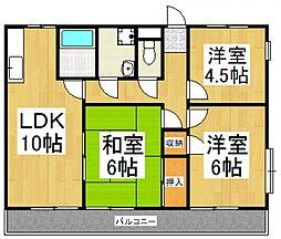 中井マンション[1階]の間取り