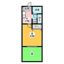 ジュジュ徳重B棟[1階]の間取り