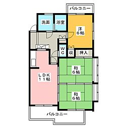 メゾン豊田[3階]の間取り