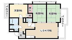 メゾン豊田[3A号室]の間取り