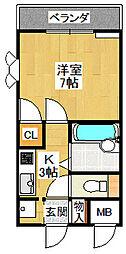 シティハウス仁川1[301号室]の間取り