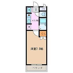 三重県四日市市日永東3丁目の賃貸マンションの間取り