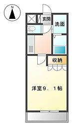 福岡県北九州市八幡西区大平2丁目の賃貸アパートの間取り